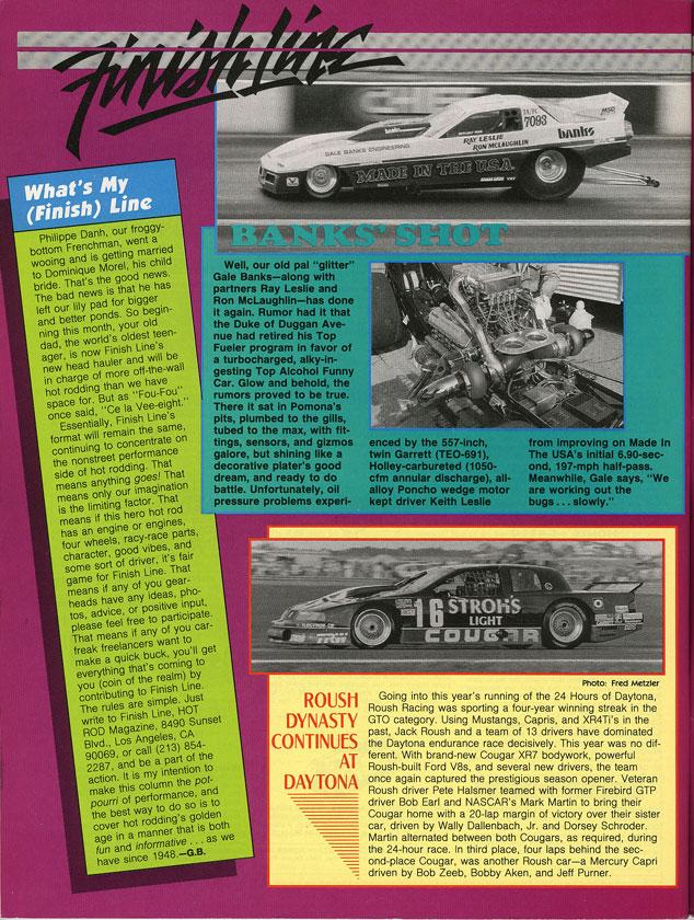 Hot Rod Magazine p190 May 1989