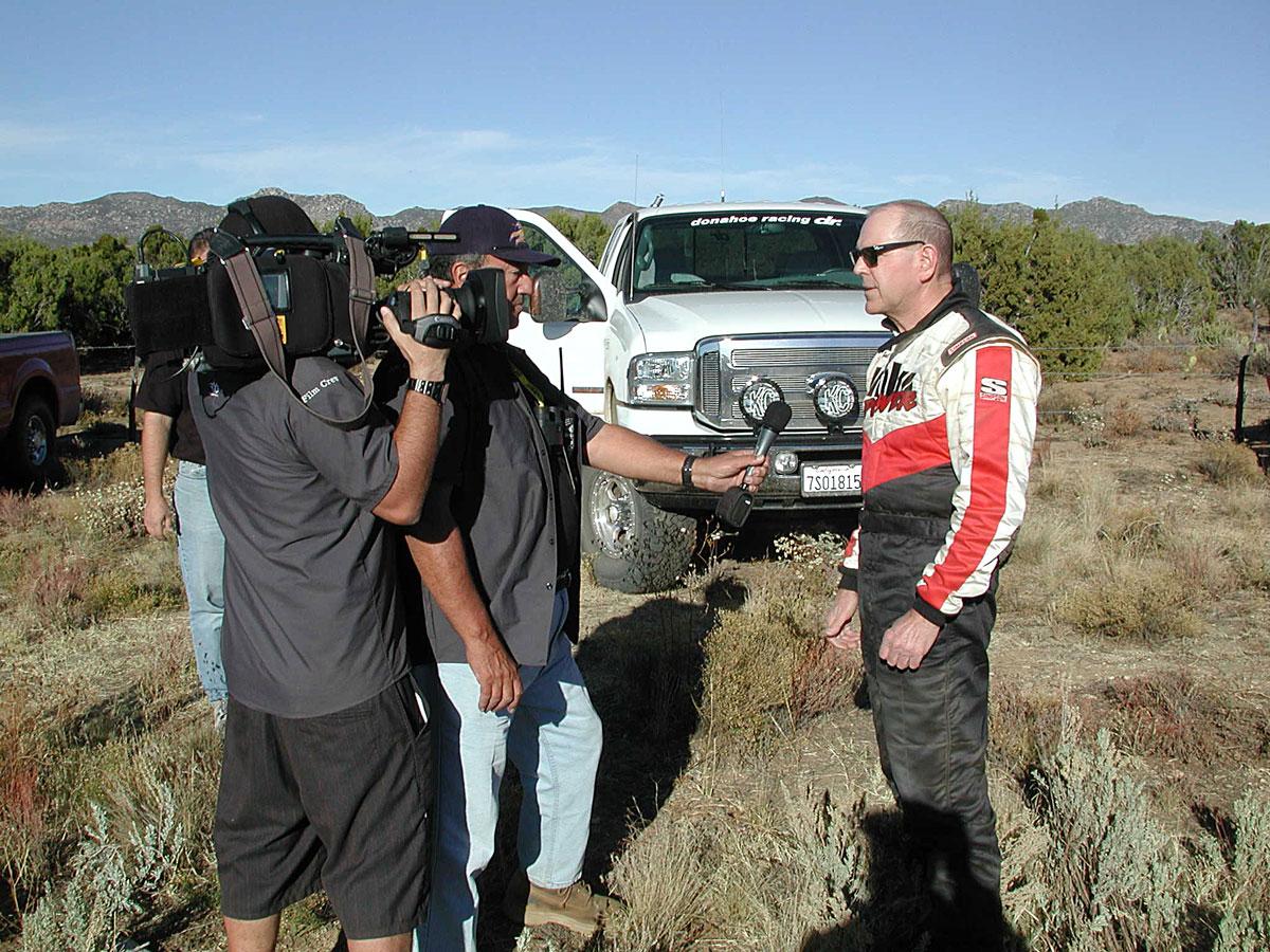 Gale being interviewed