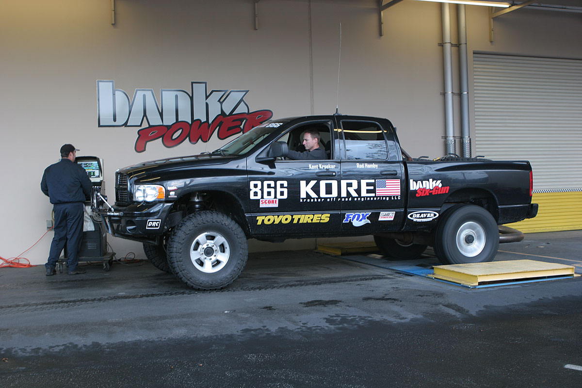 KORE truck on the dyno