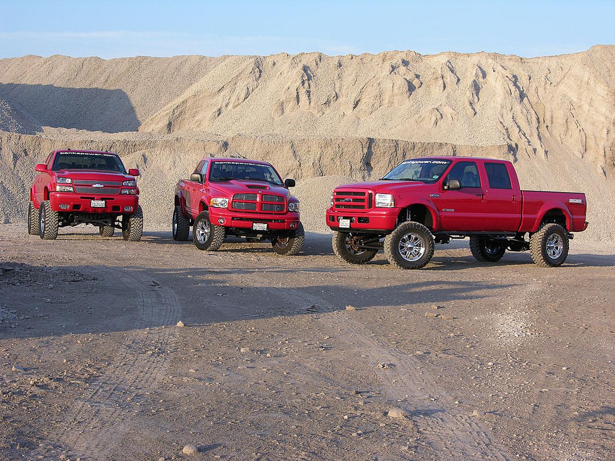 Banks Sidewinder All-Terrain Trucks together