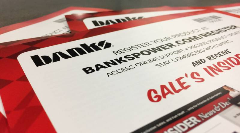 Banks Power product registration cards