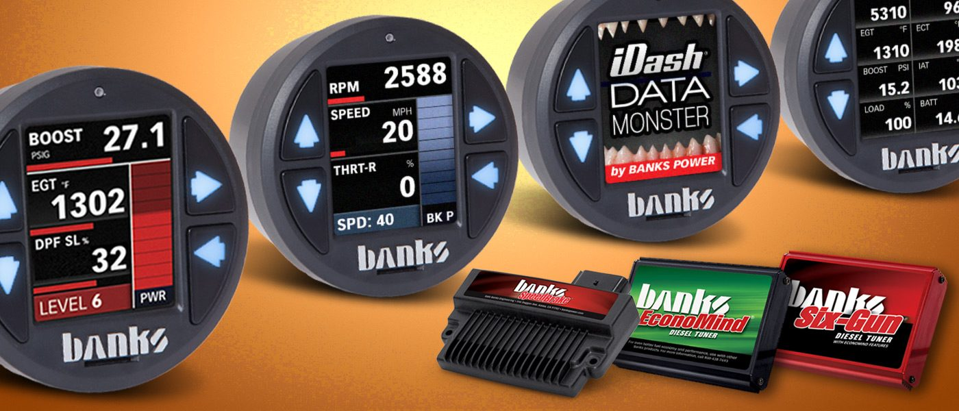 iDash 1.8 Super Gauge now controls Banks Six-Guns, EconoMind and SpeedBrake