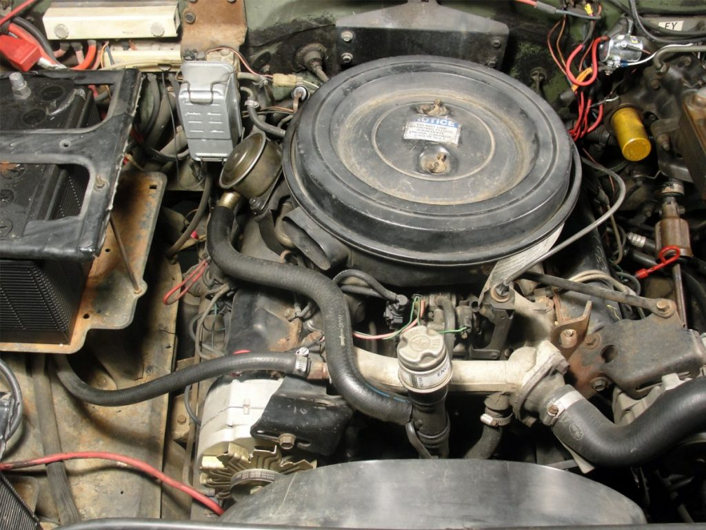 It ain't pretty, and sure looks a lot like a small-block Chevy gas motor, but the 6.2L in our auction find supposedly only had in our auction find was a runner.