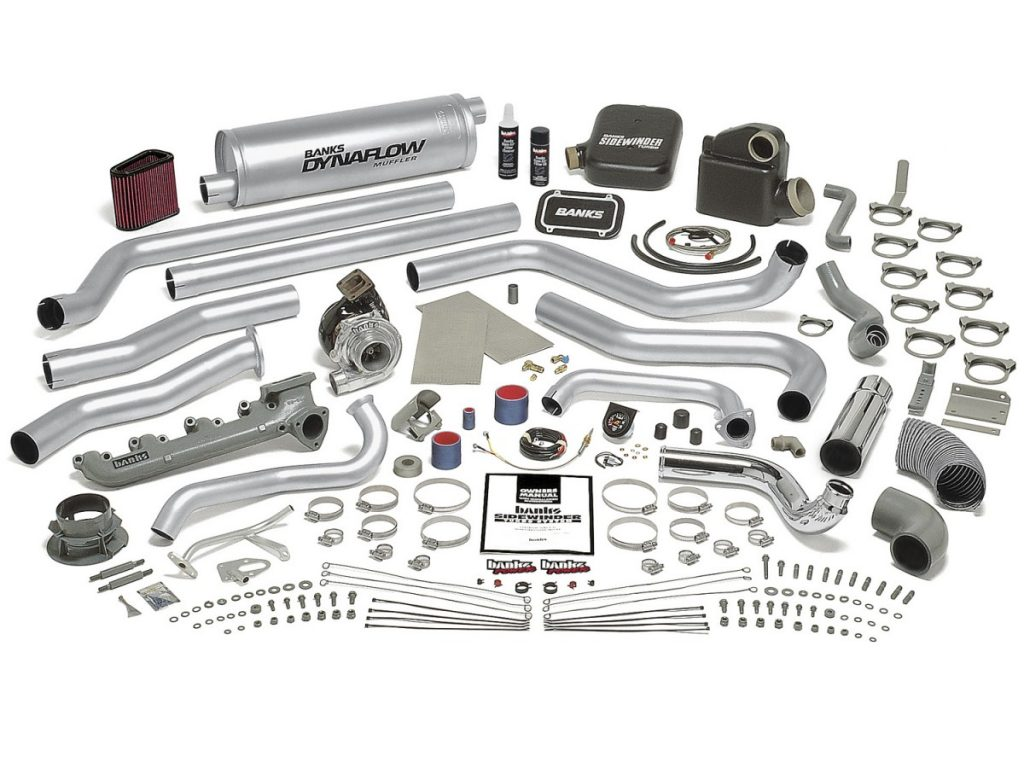 The Banks Sidewinder kit for the 6.2L diesel comes complete with everything you need for the swap including new intake and exhaust manifold and a detailed instruction book. The first step with any installation like this is a thorough read-through of the instructions followed by a check-off of all the parts from the parts list.