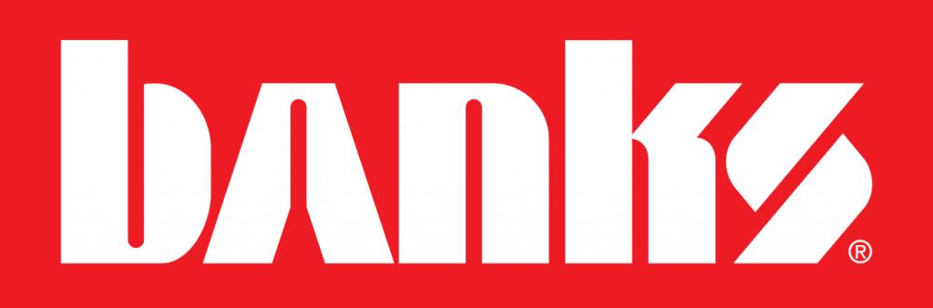 Banks logo color variation red reversed