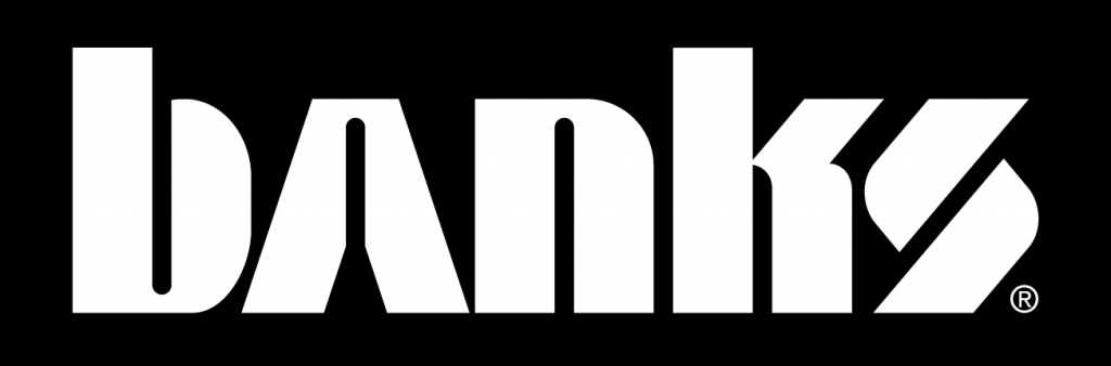 Banks logo color variation black reversed