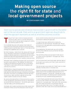 StateScoop report on open source projects in local government