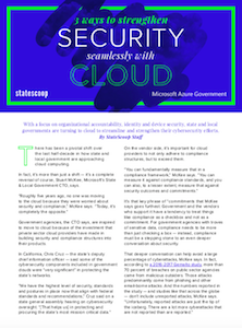 StateScoop report on security with cloud