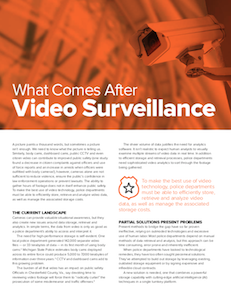 Pure Storage video surveillance data analytics report