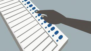 voting machine illustration