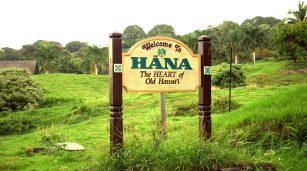 Hana Hawaii sign