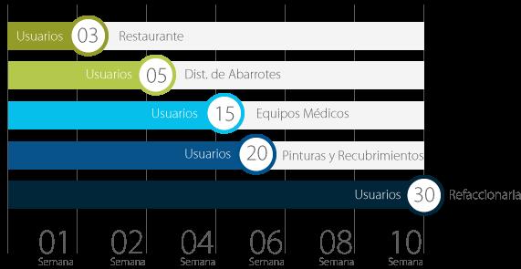 Tiempos de Implementación del Sistema ERP ManagementPro