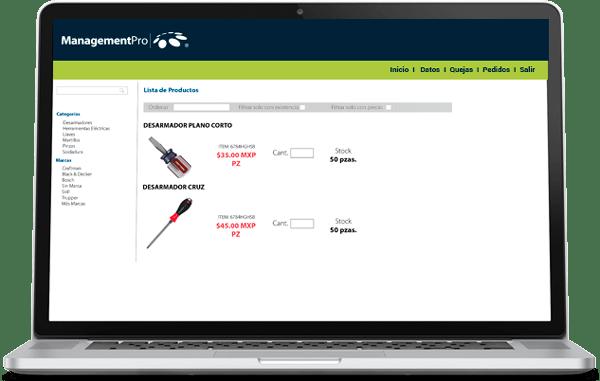 Ecommerce del Sistema ERP Ventas