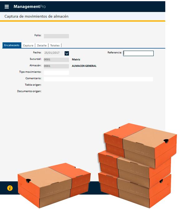 módulo de inventarios del programa de zapaterias