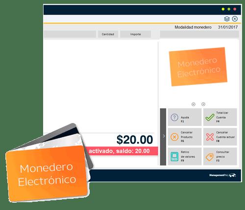 monedero electrónico incluido en el Sistema de Punto de Venta