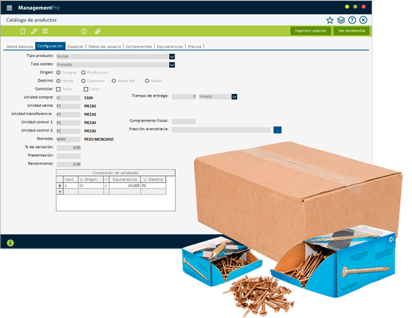 Sistema ERP Inventarios