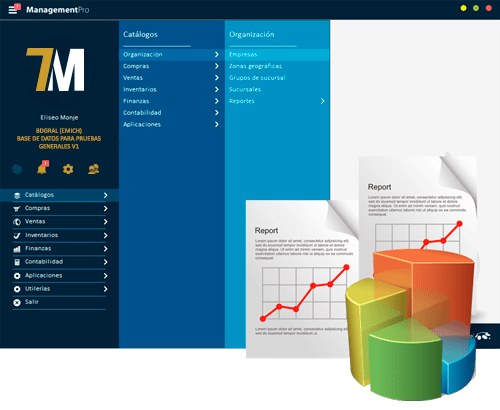Reportes del Sistema ERP ManagementPro Versión 7