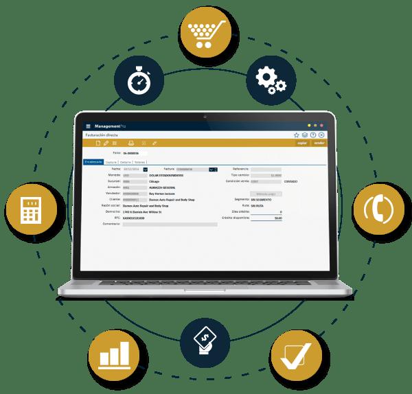 Composición de Módulos de ManagementPro Sistema ERP
