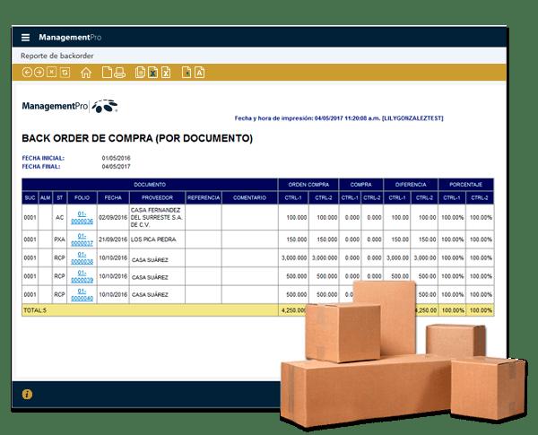 Devoluciones a proveedor Sistema ERP Compras