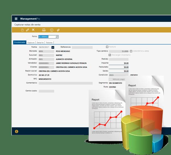 Módulo de Ventas del Sistema ERP ManagementPro