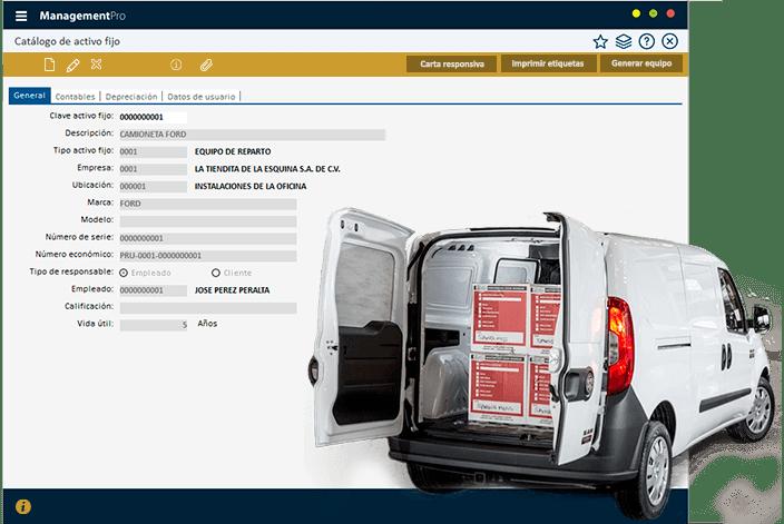 Módulo de Activo Fijo del Sistema ERP ManagementPro