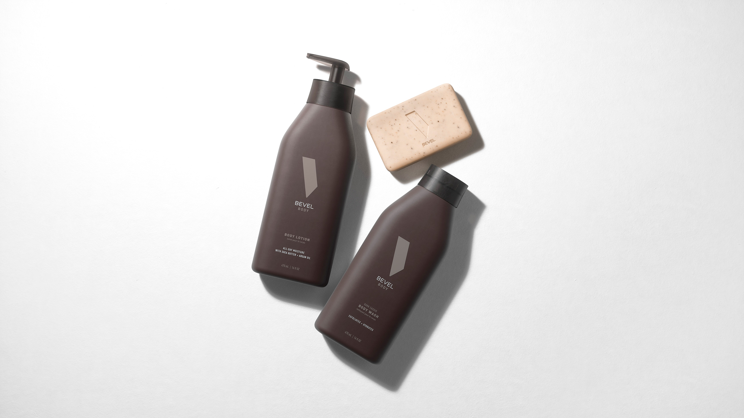 bevel body wash lotion deodorant exfoliating bar soap