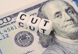 Interest rate cut down federal open market image depiction