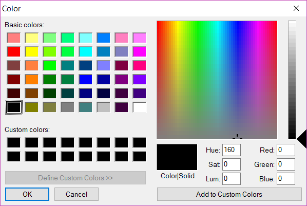 html5 line color selector