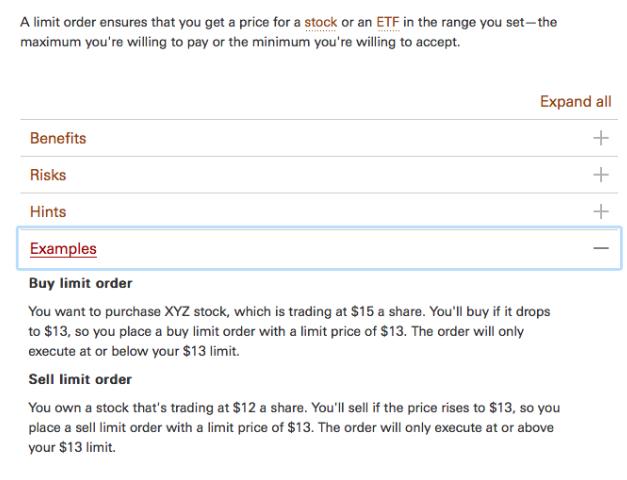 Vanguard's trading examples. Source: Vanguard.com