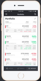 MarketWatch's platform on iOS. Source: iTunes