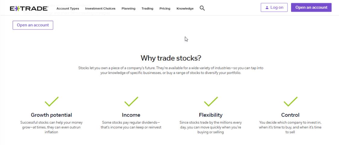 How To Buy Stocks On E Trade Step By Step Benzinga