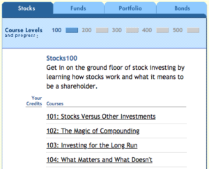 Morningstar's Stock Course catalogue. Source: Morningstar.com