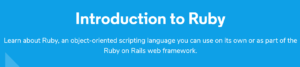 Introduction to Ruby by Codeacademy