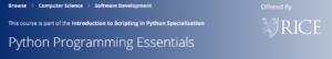 Python Programming Essentials by Coursera