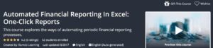 Automated Financial Reporting in Excel: One-Click Reports by Udemy