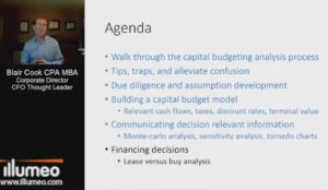 Advanced Capital Budgeting: Analysis by Udemy