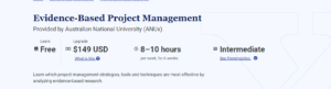Evidence-Based Project Management by edX