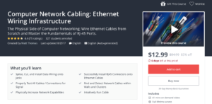 Computer Network Cabling: Ethernet Wiring Infrastructure by Udemy