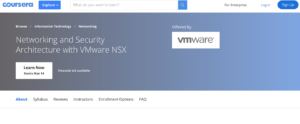 Networking and Security Architecture with VMware NSX by Coursera