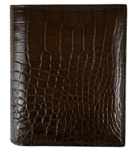 CHERRY CHICK Men's Genuine Crocodile Skin Wallet