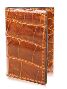 Yoder Leather Company's Genuine Alligator Skin Trifold Leather Wallet