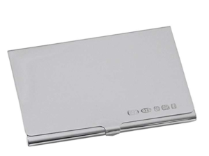 Orton West Unisex Hallmark Display Card Case in Silver