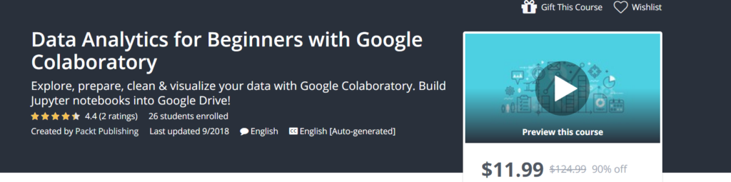 Data Analytics for Beginners with Google Colaboratory