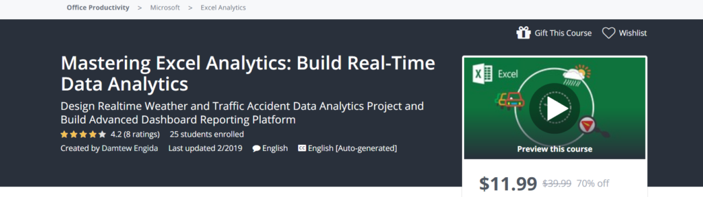 Mastering Excel Analytics: Build Real-Time Data Analytics