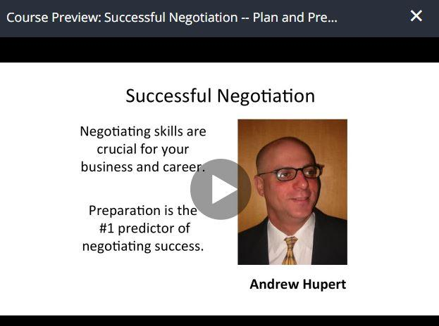 Successful Negotiation – Plan and Prepare Your Strategy