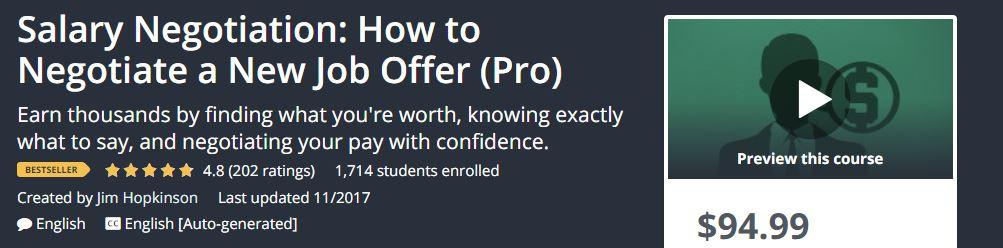 Salary Negotiation: How to Negotiate a New Job Offer (Pro)