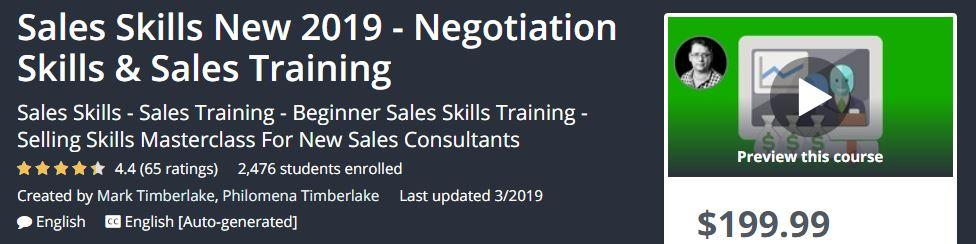 Sales Skills New 2019 – Negotiation Skills & Sales Training