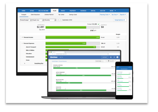 Desktop, web, and mobile capabilities on Quicken.