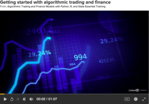 Algorithmic Trading and Finance Models with Python, R, and Stata Essentntial Trade by LinkedIn Learning (formerly Lynda.com)