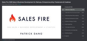 Sales Fired: B2B Sales and Business Development by Skillshare